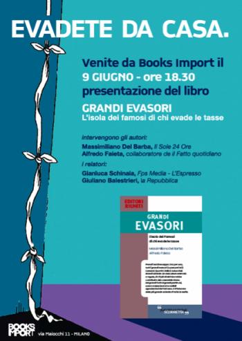 Locandina per presentazione libro presso Books Import, by Monkey Business