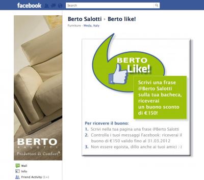 Bertolike! L'attività Facebook di Monkey per Berto Salotti.