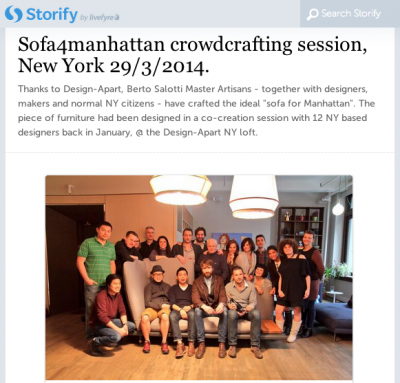 Design-Apart and Berto cocreation in New York